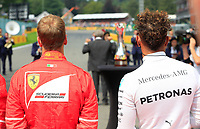 Spa 27/08/2017 Formula 1 / GP F1 Belgio Francorchamps <br /> <br /> Vettel Nr. 5 Ferrari-Hamilton Nr. 44 Ferrari<br />   <br /> Foto Benoit Bouchez / Photonews /Panoramic /Insidefoto