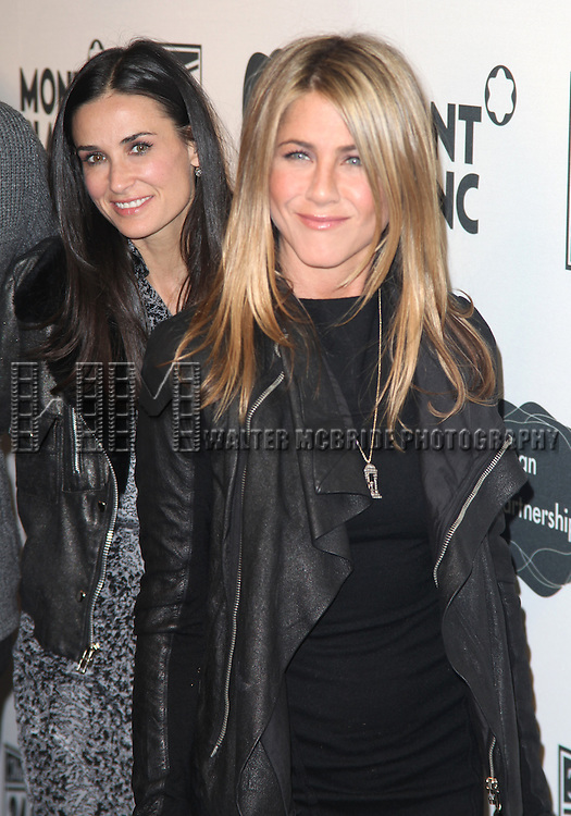 Demi Moore, Jennifer Aniston.attending the 9th Annual Production of THE 24 Hour Plays on Broadway after Party at The Opera Ballroom at Crest in New York City..November 9, 2009.© Walter McBride /