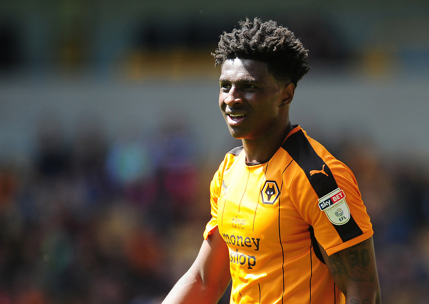 Wolverhampton Wanderers' Kortney Hause<br /> <br /> Photographer Kevin Barnes/CameraSport<br /> <br /> The EFL Sky Bet Championship - Wolverhampton Wanderers v Preston North End - Sunday 7th May 2017 - Molineux Stadium <br /> <br /> World Copyright &copy; 2017 CameraSport. All rights reserved. 43 Linden Ave. Countesthorpe. Leicester. England. LE8 5PG - Tel: +44 (0) 116 277 4147 - admin@camerasport.com - www.camerasport.com