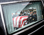 Members of a U.S. Army Honor Guard place the casket containing the remains of Korean War soldier Cpl. Jules Hauterman, Jr. into a hearse during Hauterman's funeral in Holyoke on Friday, March 31, 2017. Hauterman, whose remains were newly identified, was a 19-year-old Army medic from Holyoke, who went missing during a bloody Chinese attack on U.S. troops at the Battle of Chosin Reservoir in 1950. Photo by Christopher Evans
