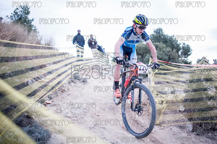 Chelva, SPAIN - MARCH 6: Kilian Folguera during Spanish Open BTT XCO on March 6, 2016 in Chelva, Spain