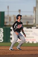 Royce Bolinger (5) of the High Desert Mavericks runs the bases during a game against the Lancaster JetHawks at The Hanger on May 19, 2015 in Lancaster, California. Lancaster defeated High Desert, 8-7. (Larry Goren/Four Seam Images)