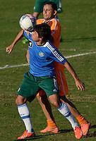 SÃO PAULO,SP, 16 julho 2013 -  Tiago Real  durante treino do Palmeiras no CT da Barra funda  na zona oeste de Sao Paulo, onde a equipe faz jogo treino contra o Atletico Atibaia . FOTO ALAN MORICI - BRAZIL FOTO PRESS