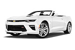 Stock pictures of low aggressive front three quarter view of 2016 Chevrolet Camaro 2SS 2 Door Convertible Low Aggressive