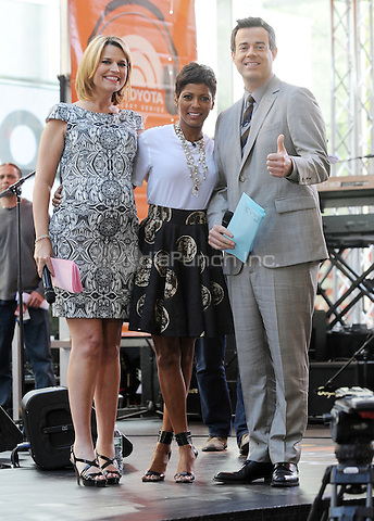 New York,NY-May 30: Savannah Gurthrie,Tamron Hall ,Carson Daly attends the Rascal Flatts concert on The Today Show  in New York City on May 30, 2014. Credit: John Palmer/MediaPunch