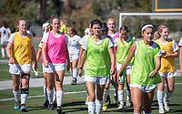Occidental College women's soccer vs. Whittier College during Family Weekend & Homecoming, Oct. 22, 2016 in Jack Kemp Stadium.<br />