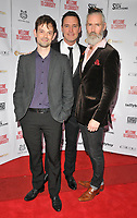 guest, Ben Pickering and Jon Campling at the &quot;Welcome To Curiosity&quot; UK film premiere, Prince Charles Cinema, Leicester Place, London, England, UK, on Monday 04 June 2018.<br /> CAP/CAN<br /> &copy;CAN/Capital Pictures