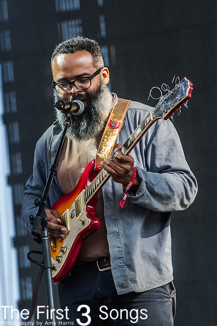 Kyp Malone of TV on the Radio performs at the 2nd Annual BottleRock Napa Festival at Napa Valley Expo in Napa, California.