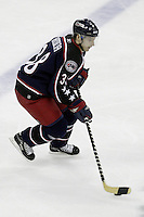 11 January 2006: Columbus Blue Jackets' Jan Hrdina plays against the Pittsburgh Penguins at Nationwide Arena in Columbus, Ohio.<br />
