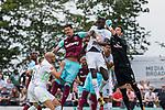 29.07.2017, Heinz-Dettmer-Stadion, Lohne, GER, FSP, SV Werder Bremen vs West Ham United<br /> <br /> im Bild<br /> José / Jose Fonte (West Ham #4) im Duell / im Zweikampf mit  Lamine Sané / Sane (Werder Bremen #26), Jiri Pavlenka (Werder Bremen #1), <br /> <br /> Foto © nordphoto / Ewert