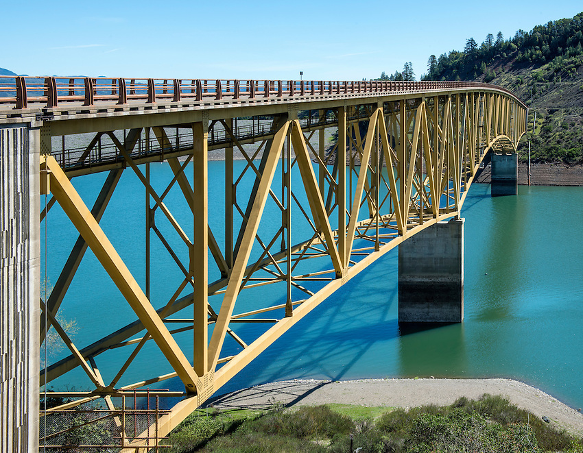 The bridge extending over Lake Sonoma in north Sonoma County