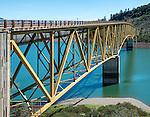 The bridge extending over Lake Sonoma in north Sonoma County