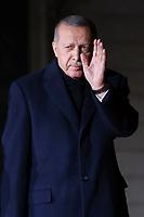 Recep Tayyip Erdogan ( President Turc ) <br /> Parigi 10-11-2018 <br /> Museo d'Orsay Cena Ufficiale Capi di Stato <br /> Commemorazione 100 anni dalla fine della Grande Guerra, Prima Guerra Mondiale <br /> Foto Gwendoline LeGoff/Panoramic / Insidefoto