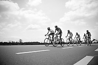 breakaway group crossing the highest region in Belgium: Les Hautes Fagnes (700m above sea level) <br /> <br /> Ster ZLM Tour 2014<br /> stage 4: Hotel Verviers - La Gileppe (187km)