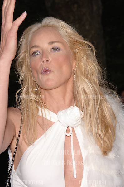 Actress SHARON STONE at amfAR's Cinema Against AIDS gala at the Moulin de Mougins restaurant in Cannes..May 25, 2006  Cannes, France..© 2006 Paul Smith / Featureflash