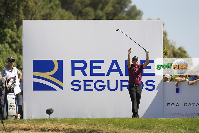 James Morrison (ENG) on the 17th tee during Round 4 of the Open de Espana  in Club de Golf el Prat, Barcelona on Sunday 17th May 2015.<br /> Picture:  Thos Caffrey / www.golffile.ie