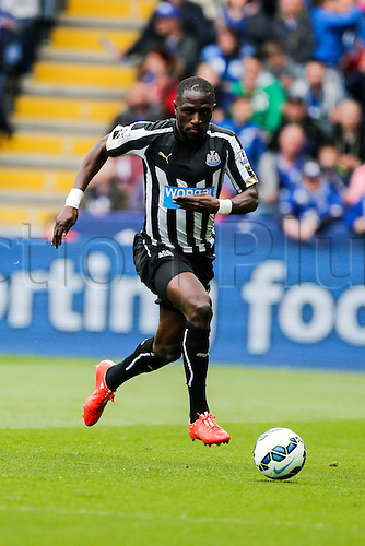 02.05.2015.  Leicester, England. Barclays Premier League. Leicester City versus Newcastle United.  Moussa Sissoko of Newcastle United on the ball.