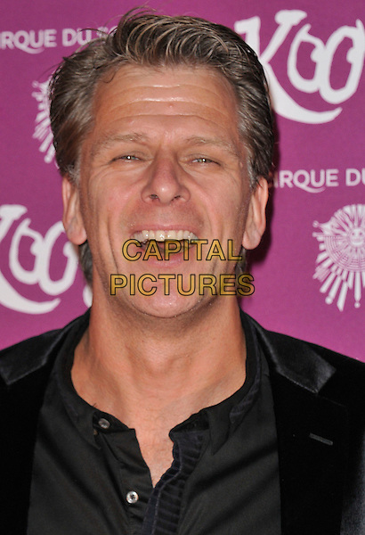 "Andrew Castle.VIP Night for Cirque du Soleil's new production, ""Kooza"" at the Royal Albert Hall, London, England..January 8th 2013.headshot portrait black mouth open .CAP/WIZ.© Wizard/Capital Pictures."