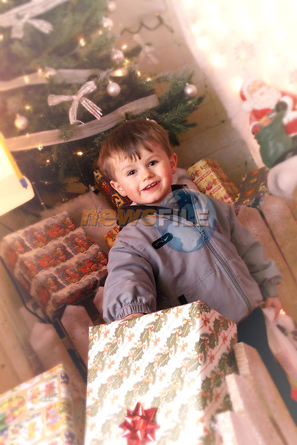 Adam Brennan from Mell in Santa's grotto in QMart..Picture: Paul Mohan/Newsfile