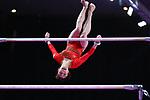 Yuki Uchiyama (JPN), <br /> AUGUST 21, 2018 - Artistic Gymnastics : <br /> Women's Individual All-Around Uneven Bars <br /> at JIEX Kemayoran Hall D <br /> during the 2018 Jakarta Palembang Asian Games <br /> in Jakarta, Indonesia. <br /> (Photo by Naoki Nishimura/AFLO SPORT)