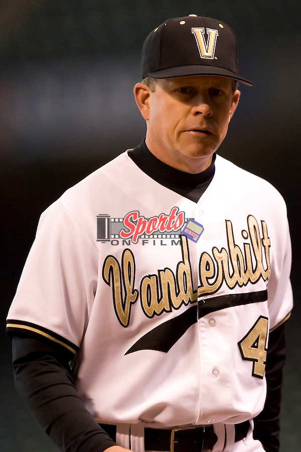Vanderbilt head coach Tim Corbin (4) at the 2007 Houston College Classic at Minute Maid Park in Houston, TX, Saturday, February 10, 2007.  The Commodores defeated the Sun Devils 7-6 in 10 innings.