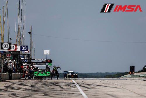 8-10 August 2014, Elkhart Lake, Wisconsin USA<br />  1, Honda, HPD ARX-03b, P, Scott Sharp, Ryan Dalziel pit stop<br /> &copy;2014, Michael L. Levitt<br /> LAT Photo USA for IMSA