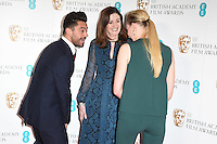 Dominic Cooper, Amanda Berry and Sophie Turner<br /> at the announcement of the nominations for the 2017 EE BAFTA Film Awards, BAFTA, London<br /> <br /> <br /> &copy;Ash Knotek  D3215  10/01/2017