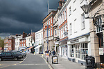 Historic buildings in the Market Place, Devizes, Wiltshire, England