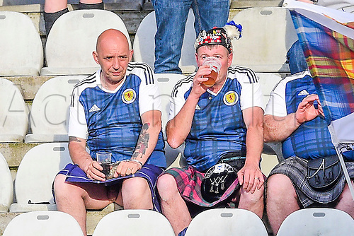 04.06.2016. Stade Saint Symphorien, Metz, France. International football freindly,France versus Scotland.  Scots fans in kilts
