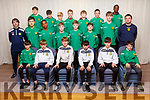 Kerry U13 Soccer Squad.<br /> Seated l to r: Steven Gannon, Niall O'Brien, Oisin Healy, Jack Slattery, Christopher Devane and Andrew Kerins.  <br /> 2nd row l to r: JP Mullins (Coach), Finn O'Neill, Mohamed Abdalla, Barry Fitzsimons, Paddy McMahon, Ben O'Callaghan, Darragh Foley, Joe O'Reilly (Coach).<br /> 3rd row l to r: Bruno Borzyw, Jake Hoare, Finton O'Sullivan, Nathan Ahern, James Fisher, Finn Barrett and JJ Obaj