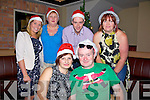 Pictured at the Super Summer Santa Party at the Kerry Coast Hotel, Cahersiveen on Friday night last were front l-r; Sylwia Derylak, Colman Quirke, back l-r; Tracy O'Neill, Mary Sheehan, Vincent Devlin & Sharon Reidy.