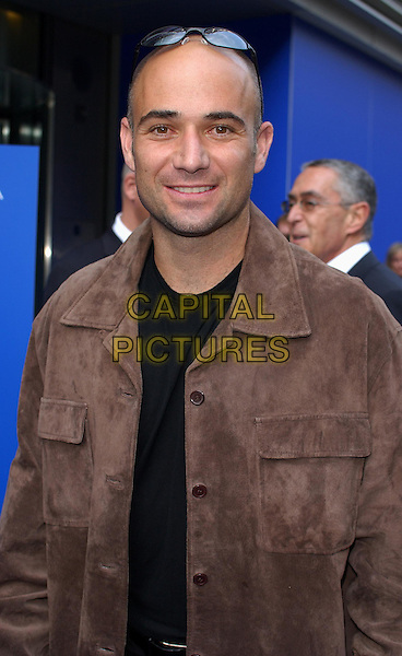 ANDRE AGASSI.attends the launch party for his new fragrance, Aramis at Igeni.www.capitalpictures.com.sales@capitalpictures.com.©Capital Pictures.half length, half-length
