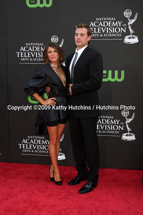Elizabeth Hendrickson & Billy Miller  arriving at the Daytime Emmys at the Orpheum Theater in  Los Angeles, CA on August 30, 2009.©2009 Kathy Hutchins / Hutchins Photo.