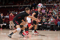 STANFORD, CA - January 9, 2015: Stanford Cardinal vs. the Lewis University Flyers at Maples Pavilion. The Flyers defeated the Cardinal 25-21, 25-19, 25-19.