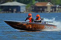 """Barbara Warby, """"Tiger"""" (1976 Everingham racing flatbottom ski boat)"""