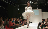 Fashion Show at Further Education College.  Clothes designed for and modelled by Special Olympics Athletes.  Clothes designed by year 1 BTEC National Diploma Fashion and Clothing students.