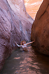 A self portrait in Willow Gulch, Glen Canyon N.R.A.