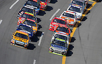 Oct 5, 2008; Talladega, AL, USA; NASCAR Sprint Cup Series driver Matt Kenseth (17) races alongside Jimmie Johnson (48) for the lead during the Amp Energy 500 at the Talladega Superspeedway. Mandatory Credit: Mark J. Rebilas-