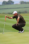 Thomas Bjorn ont he 5th green on day three of the Celtic Manor wales Open 2010.Picture Fran Caffrey/Newsfile.ie