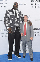 NEW YORK, NY - MAY 15: Shaquille O'Neal and Lenny Daniels attend the 2019 WarnerMedia Upfront presentation at Madison Square Garden   on May 15, 2019 in New York City.        <br /> CAP/MPI/JP<br /> ©JP/MPI/Capital Pictures