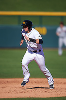 Mesa Solar Sox shortstop Daniel Robertson (26) running the bases during an Arizona Fall League game against the Scottsdale Scorpions on October 19, 2015 at Sloan Park in Mesa, Arizona.  Scottsdale defeated Mesa 10-6.  (Mike Janes/Four Seam Images)