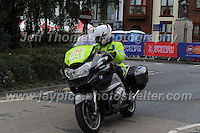 One of the many emergency motorcycles during the Abergavenny Festival of Cycling &quot;Grand Prix of Wales&quot; race on Sunday 17th 2016<br /> <br /> <br /> Jeff Thomas Photography -  www.jaypics.photoshelter.com - <br /> e-mail swansea1001@hotmail.co.uk -<br /> Mob: 07837 386244 -