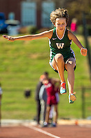 Sports photography coverage of the Woodlawn School Track and Field team completing at the meet held at Cannon School in Concord, NC.<br /> <br /> Charlotte Photographer - PatrickSchneiderPhoto.com