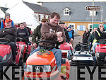 CHECK DATE.RACE WINNER: Alan Egan pictured here celebrating his victory at the annual sit up lawnmower race in Valentia Island on Sunday last.