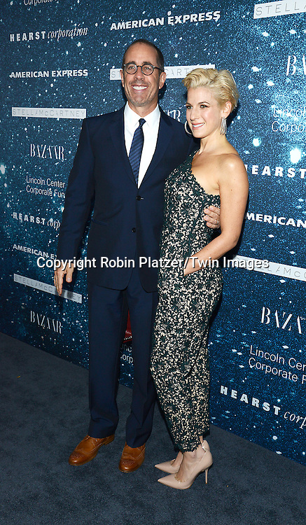 Jerry Seinfeld and wife Jessica Seinfeld attends the Stella McCartney Honored by Lincoln Center at Gala on November 13, 2014 at Alice Tully Hall in New York City, USA. She was given the Women's Leadership Award which was presented bythe LIncoln Center for the Performing Arts' Corporate Fund.<br /> <br /> photo by Robin Platzer/Twin Images<br />  <br /> phone number 212-935-0770