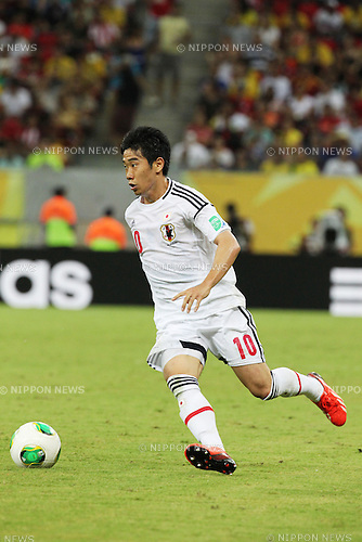 Shinji Kagawa (JPN),<br /> JUNE 19, 2013 - Football / Soccer :<br /> FIFA Confederations Cup Brazil 2013 Group A match between Italy 4-3 Japan at Arena Pernambuco in Recife, Brazil. (Photo by Toshihiro Kitagawa/AFLO)