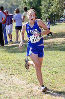 Valle Catholic's Paige Fallert runs to a 32nd finish, just missing a top-30 medal, finishing the 1A-2A Varstiy 5k race in 24:37 at the Hancock Cross Country Invitational, Saturday, September 28, in St. Louis, MO.