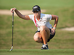 TAOYUAN, TAIWAN - OCTOBER 26:  Paula Creamer of USA lines up a put on the 15th hole during the day two of the Sunrise LPGA Taiwan Championship at the Sunrise Golf Course on October 26, 2012 in Taoyuan, Taiwan. Photo by Victor Fraile / The Power of Sport Images
