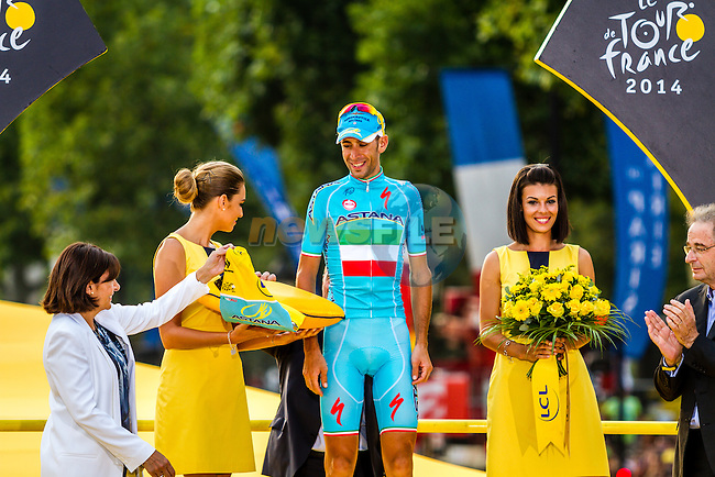 Vincenzo Nibali, Astana Pro Team, Tour de France, Stage 21: Évry > Paris Champs-Élysées, UCI WorldTour, 2.UWT, Paris Champs-Élysées, France, 27th July 2014, Photo by Thomas van Bracht