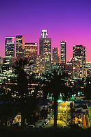 700-22222.© Dale Sanders.City Skyline at Night.Los Angeles, California.USA